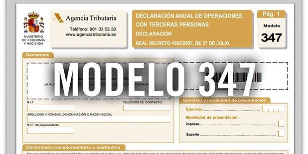El Modelo 347 se presenta en ENERO