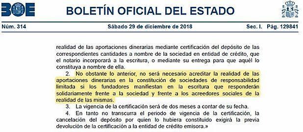 Aspectos importantes de la Ley 11/2018 con respecto a la Ley de Sociedades de Capital