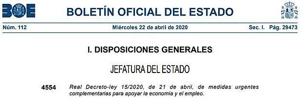 Real Decreto-ley 15/2020: tipos de IVA, pagos fraccionados, módulos y plazos tributarios