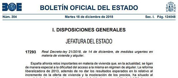 Derogado el RD-LEY 21/2018: Suprimidas la exención en ITP y AJD en los arrendamiento de vivienda para uso estable y permanente y las medidas relacionadas con el IBI